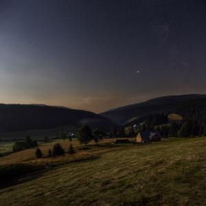 Údolí Malé Úpy v měsíčním světle