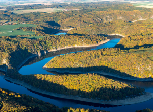Meandry Dyje na Vranovské přehradě